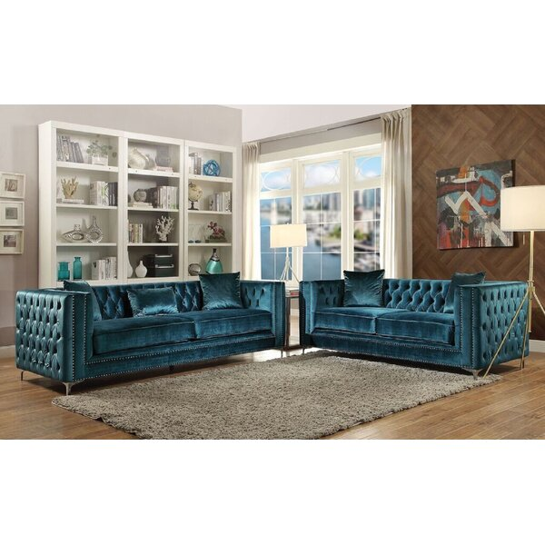 Solon 2 Piece Living Room Set by Everly Quinn
