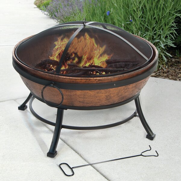 Avondale Steel Wood Burning Fire Pit by DeckMate