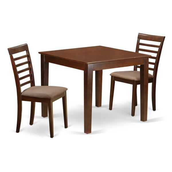 Reviews Cobleskill Microfiber Upholstery 3 Piece Dining Set By Alcott Hill Wonderful