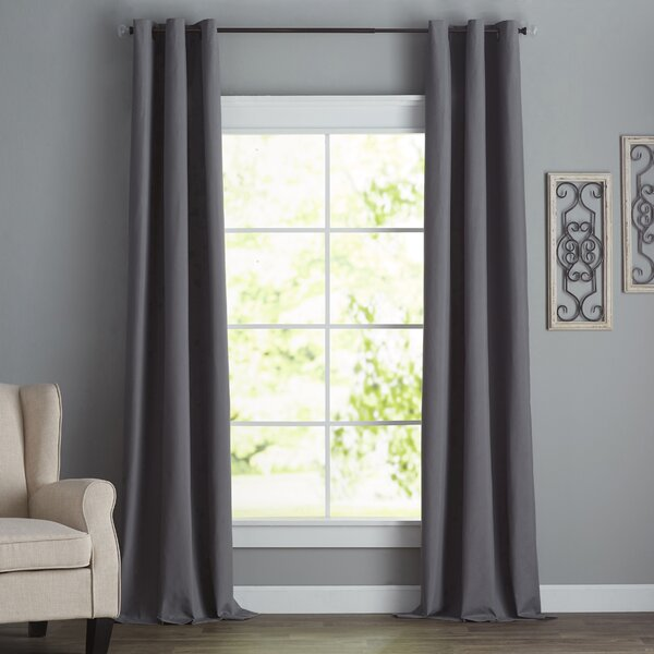 Bexley Solid Blackout Thermal Grommet Single Curtain Panel by Charlton Home