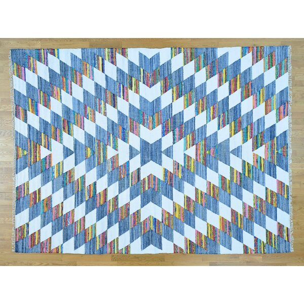 One-of-a-Kind Boyle Dazzling Handmade Kilim Wool Area Rug by Isabelline
