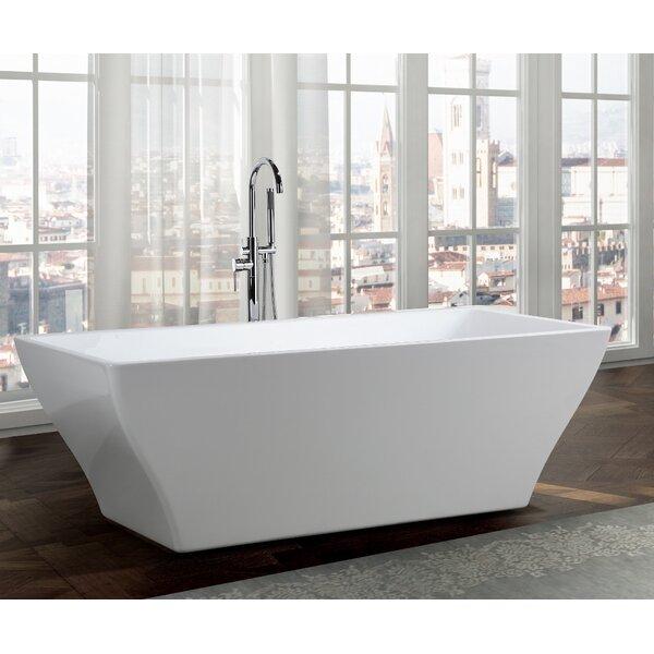 Messina 71 x 32 Freestanding Soaking Bathtub by Bellaterra Home