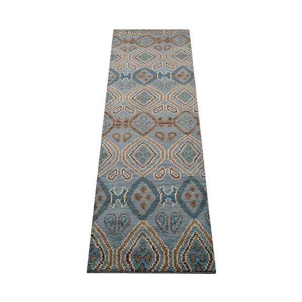 Cozette Hand-Tufted Wool Light Blue Area Rug by Bloomsbury Market