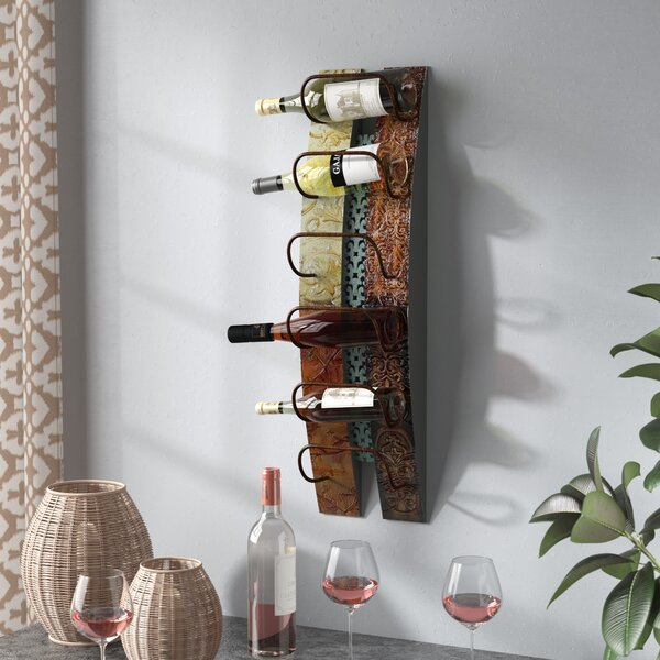 Zendaya 6 Bottle Wall Mounted Wine Bottle Rack by Fleur De Lis Living Fleur De Lis Living