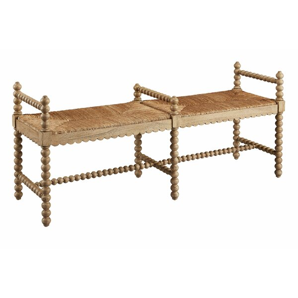 Emmalee Wood Bench by Rosecliff Heights Rosecliff Heights