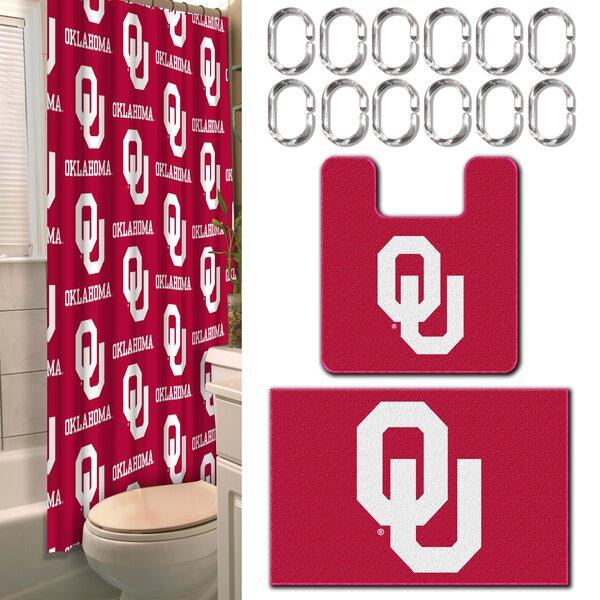 NCAA 15 Piece Shower Curtain Set by Northwest Co.