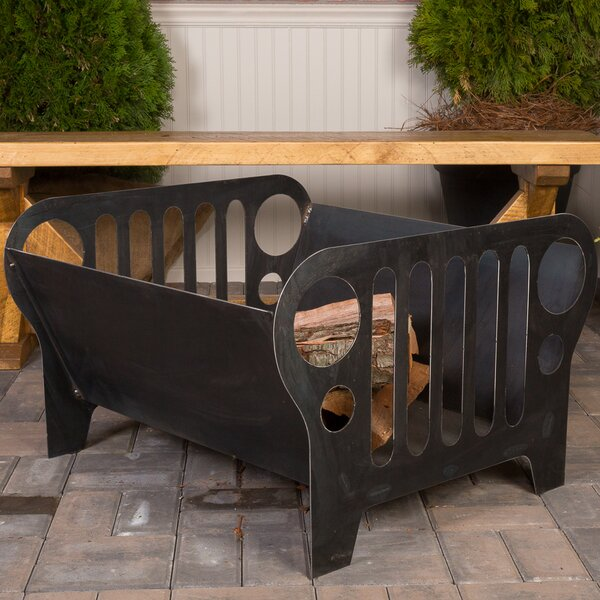 Flaming Jeep Steel Wood Burning Fire Pit by Ember Haus