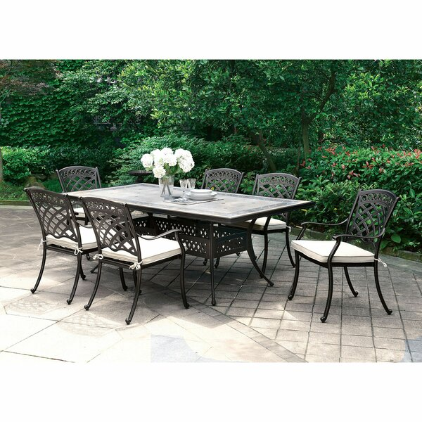 Cayuga Patio 7 Piece Dining Set with Cushions by Canora Grey
