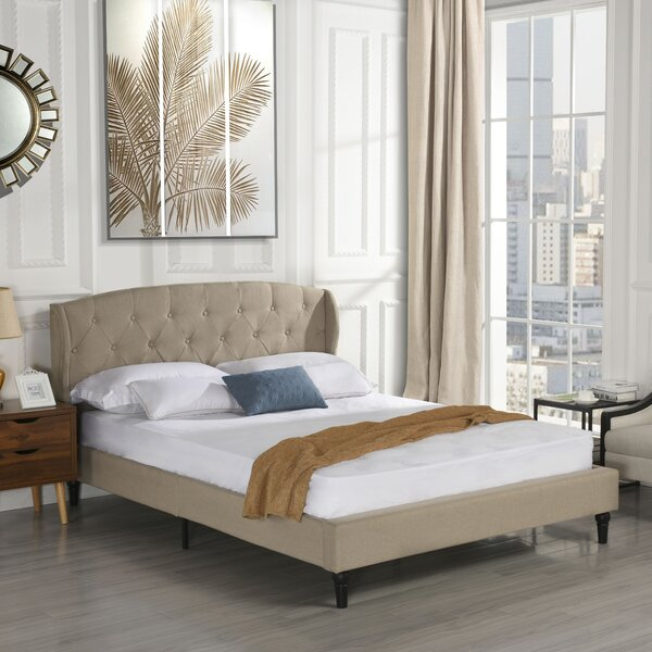 Rebello Classic Upholstered Platform Bed by Charlton Home