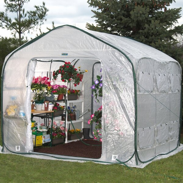 Farm House 9 Ft. W x 9 Ft. D Greenhouse by Flowerhouse