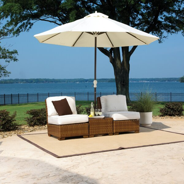 St. Barths 3 Piece Conversation Set with Cushions by Panama Jack Outdoor