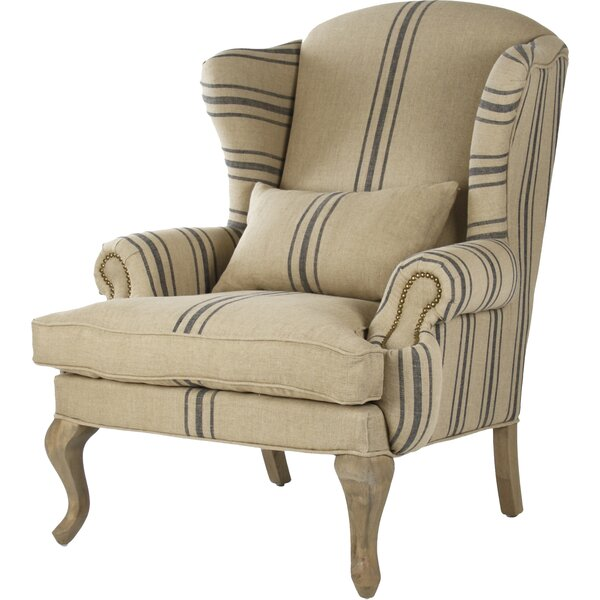 Zacharie Wingback Chair by Zentique Zentique