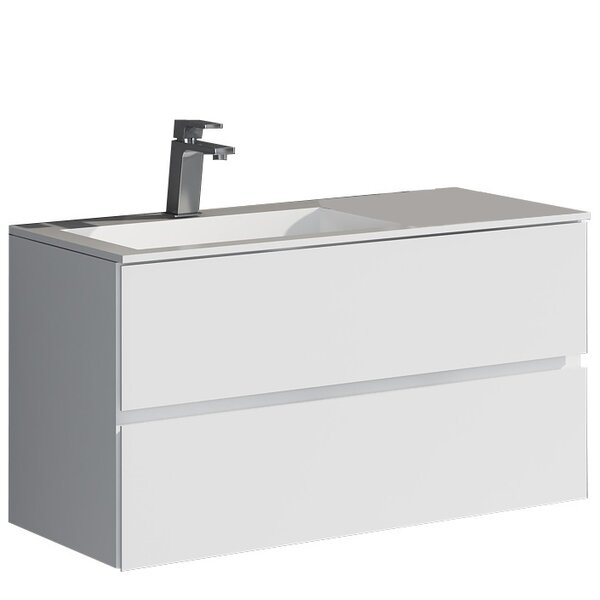 Werner 35.43 True Solid Surface Single Sink Vanity Set with Cabinet by dCOR design