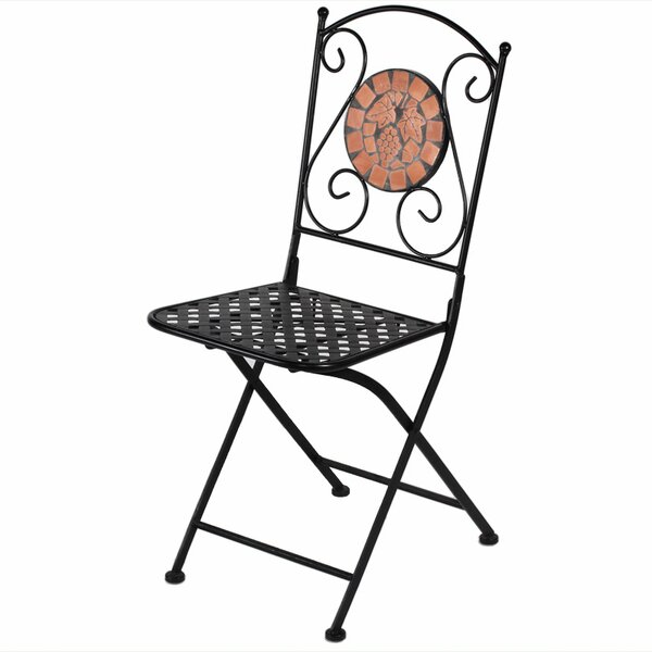 Charest Folding Patio Dining Chair by Fleur De Lis Living