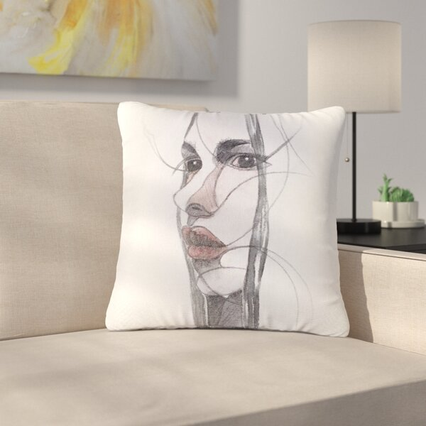 Maria Bazarova Young Girl Outdoor Throw Pillow by East Urban Home