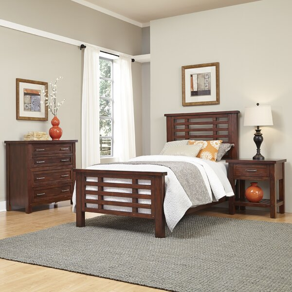 Rockvale Slat 3 Piece Bedroom Set by Loon Peak