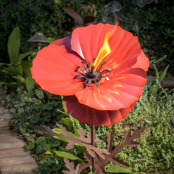Poppy Garden Torch by Desert Steel