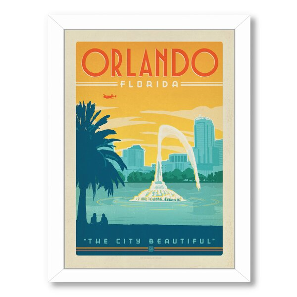Orlando Framed Vintage Advertisement by East Urban Home