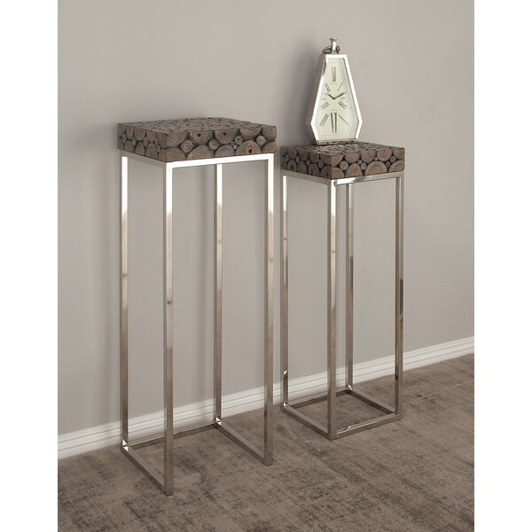 2 Piece Pedestal End Table by Cole & Grey