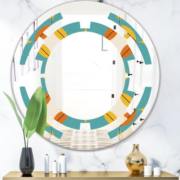 Space Diamond IV Modern Frameless Wall Mirror