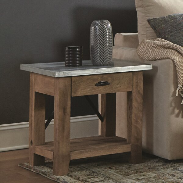 Crockett End Table With Storage By Gracie Oaks