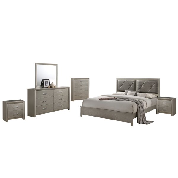 Whitaker Standard 6 Piece Bedroom Set by Mercer41