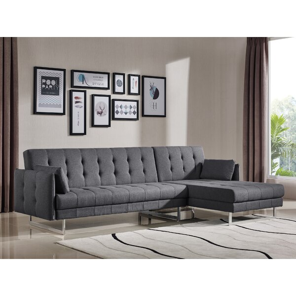 Jemima Right Hand Facing Sleeper Sectional by Wade Logan Wade Logan