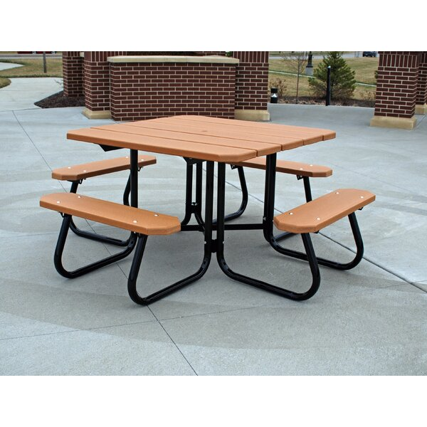 Recycled Plastic Square Picnic Table by Frog Furnishings