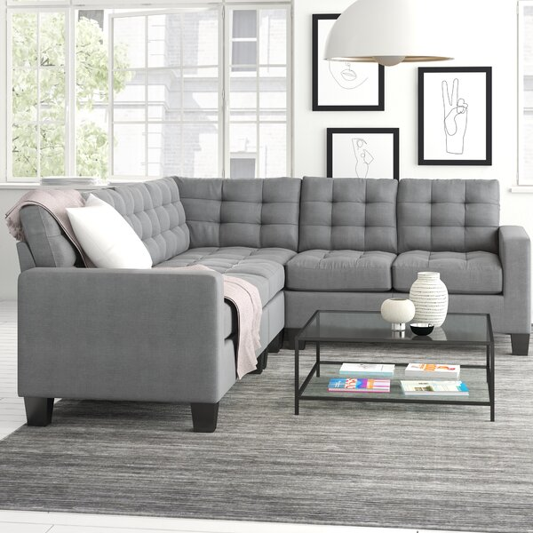 Best 2018 Brand Clem Right Hand Facing Sectional Collection by Zipcode Design by Zipcode Design