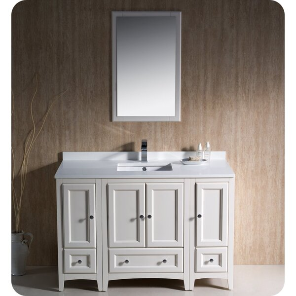 Oxford 48 Single Bathroom Vanity Set with Mirror by Fresca
