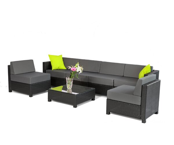 7 Piece Sectional Set with Cushions by Exacme