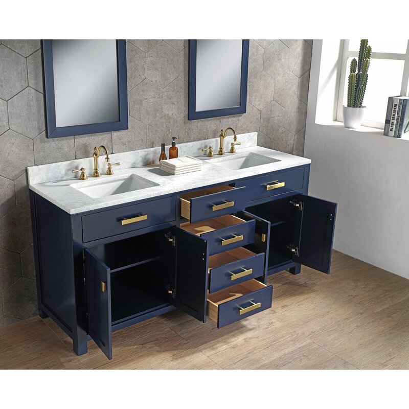 Crisler 72 Double Bathroom Vanity Set