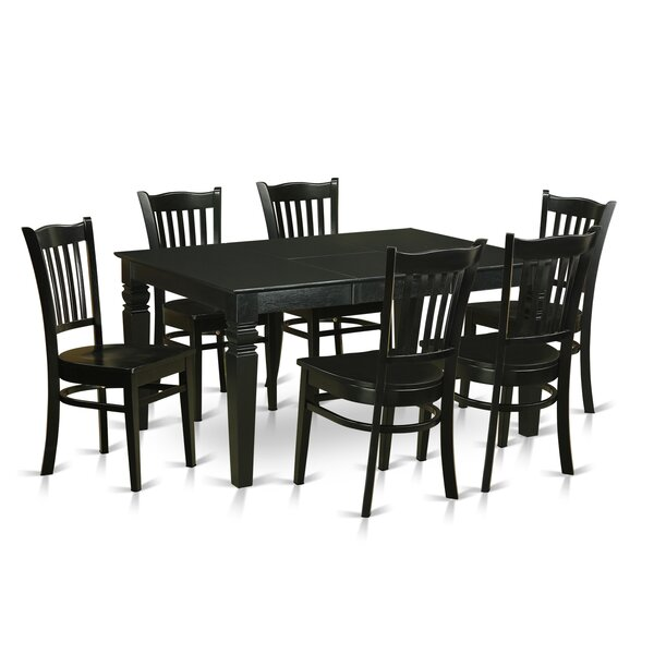 Weston 7 Piece Solid Wood Dining Set by Wooden Importers