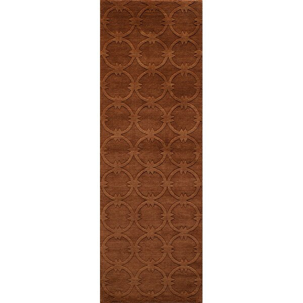 Amacker Hand-Woven Copper Area Rug by Langley Street
