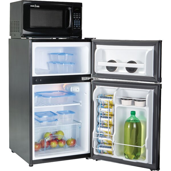 Snackmate 3.1 cu. ft. Compact Refrigerator with Freezer by Microfridge