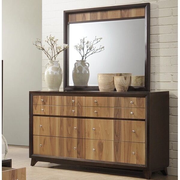 Drumack 8 Drawer Double Dresser with Mirror by Brayden Studio