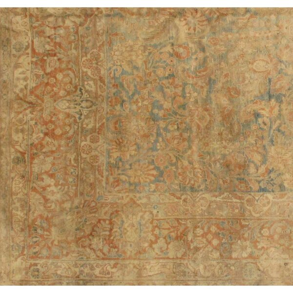 Antique Sarouk Hand-Knotted Wool Brown Area Rug by Pasargad NY
