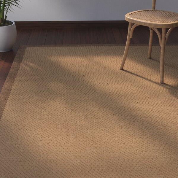 Goldenrod Beige/Brown Indoor/Outdoor Area Rug by Bay Isle Home