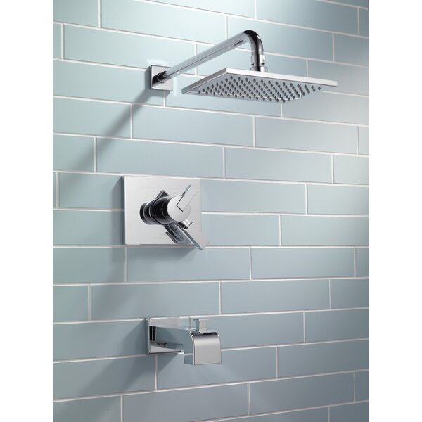 Vero Volume Control Tub and Shower Faucet Trim with Lever Handles and Monitor by Delta