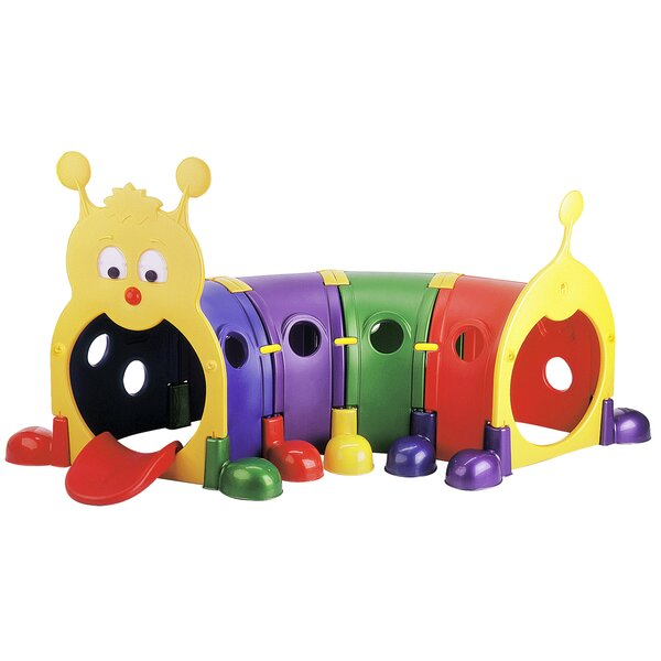 Gus Four Section Climb-n-Crawl Caterpillar Tunnel Playground by ECR4kids
