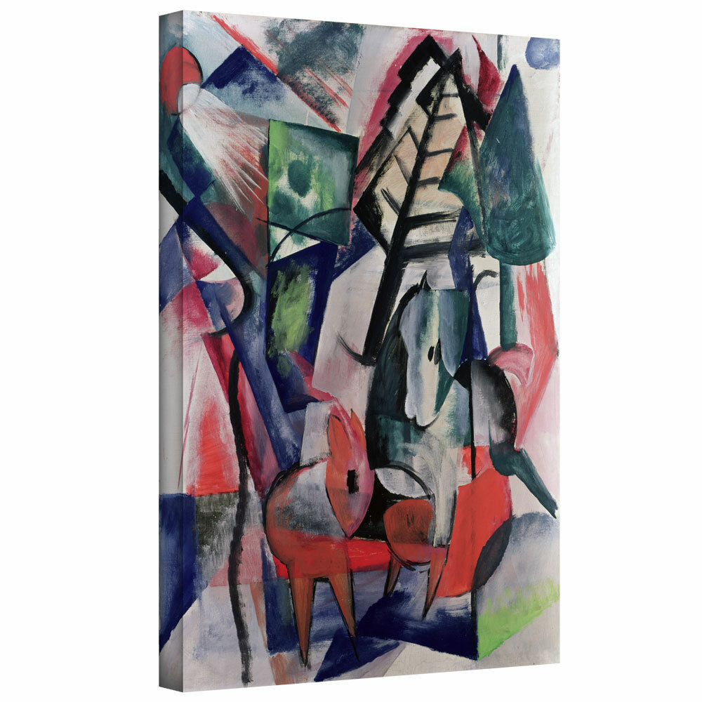 Cows under Trees  by Franz Marc   Giclee Canvas Print Repro