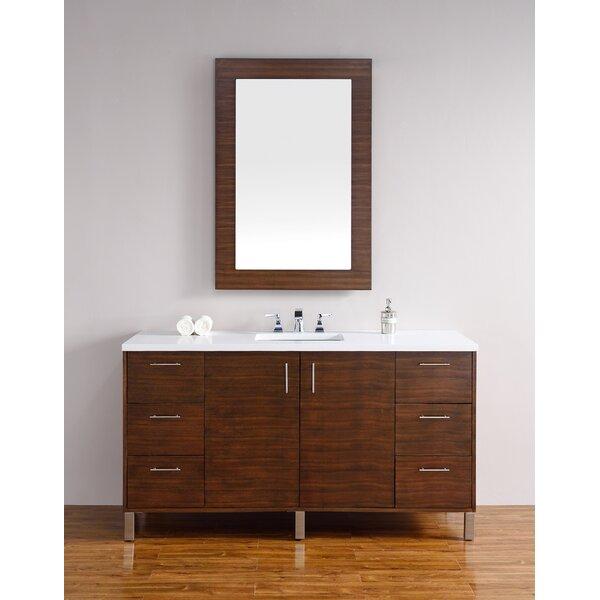 Cordie 60 Single American Walnut Bathroom Vanity Set by Orren Ellis