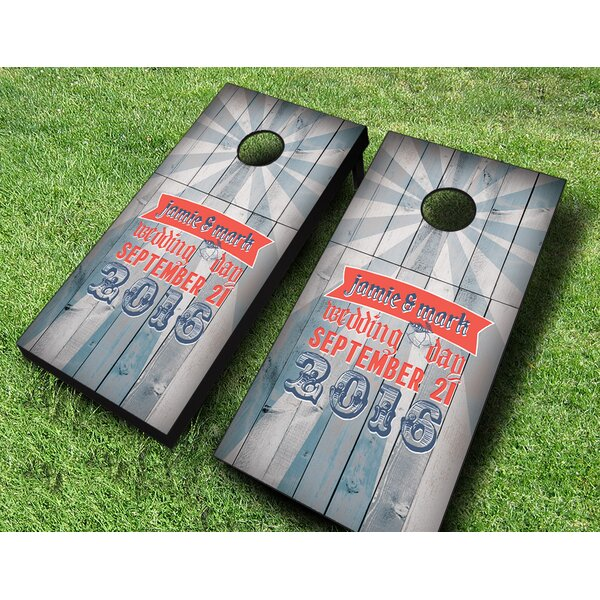 Retro Carnie Wedding Cornhole Set by AJJ Cornhole