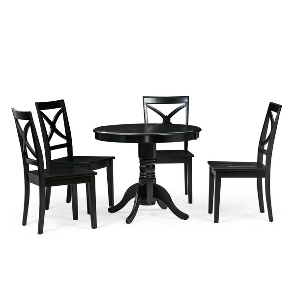 Modern Cedarville 5 Piece Solid Wood Dining Set By Alcott Hill New