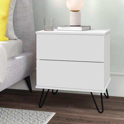 Nachttisch Lyndon | Schlafzimmer > Nachttische | Weiß | Hykkon