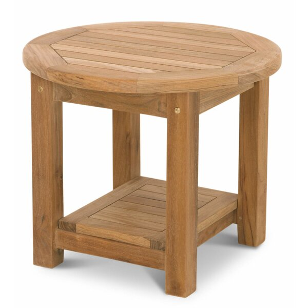 Lowery Teak Side Table by Rosecliff Heights
