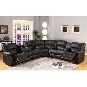 Comfort Reclining Sectional. Black Comfort Reclining Sectional  sc 1 st  Wayfair : black leather couch sectional - Sectionals, Sofas & Couches