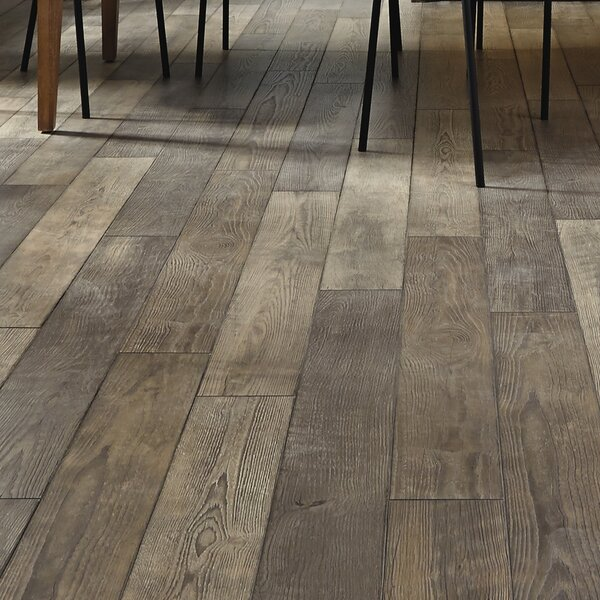 Restoration 6'' x 51'' x 12mm Oak Laminate Flooring in Winter by Mannington