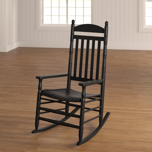 Benton Round Post Slat Back Rocking Chair by August Grove