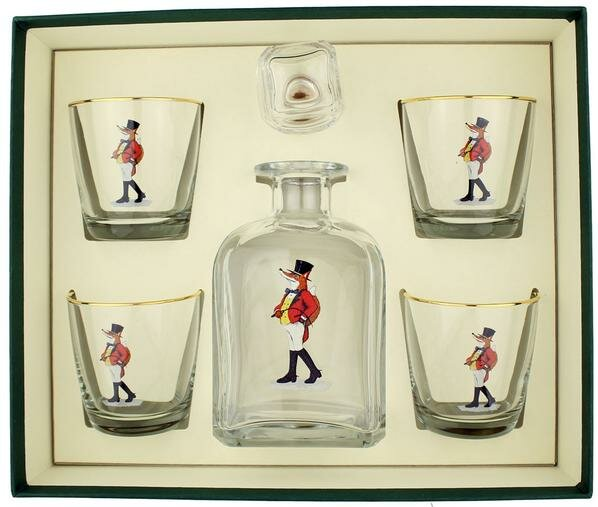 5-Piece Snooty Fox Decanter Set by Richard E. Bishop